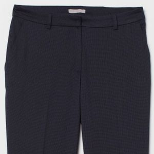 Navy textured suit pants